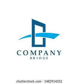 Bridge icon vector illustration Logo template design