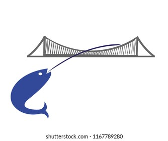 bridge illustration vector