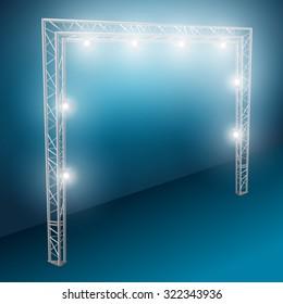 bridge lights with white spotlights 2