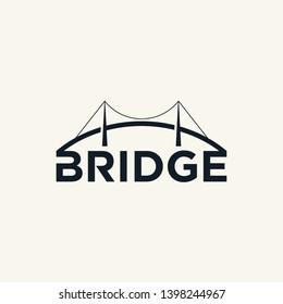 bridge logo black white monogram