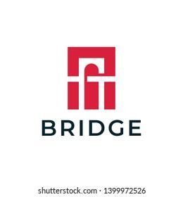 Bridge logo design concept. Universal bridge logo.