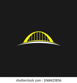 Bridge logo icon design template. Vector illustration