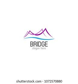 Bridge logo icon design template. Vector illustration