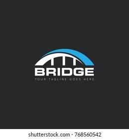 bridge logo, icon, design template