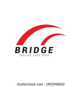 Bridge logo icon vector template.