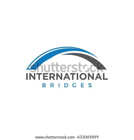 bridge logo icon vector template のベクター画像素材 ロイヤリティ