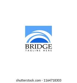 bridge logo template design