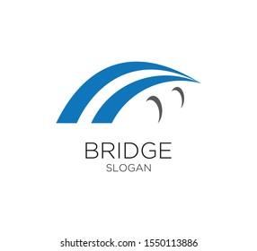 bridge logo vector desig template