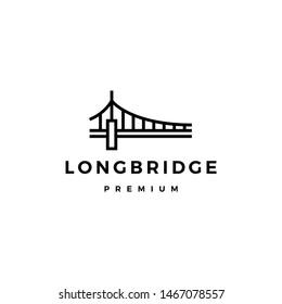 bridge logo vector icon illustration