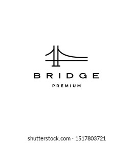 bridge logo vector icon illustration line outline monoline