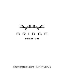 bridge logo vector icon illustration line outline monoline