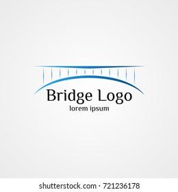 bridge logo vector illustration template. connection concept