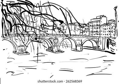 bridge in Rome
