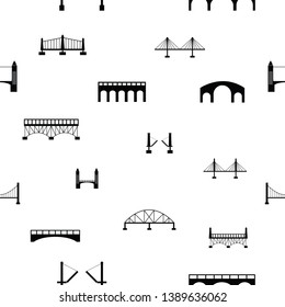 bridge seamless pattern background icon.