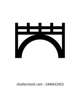 Bridge  sign symbol icon vector illustration