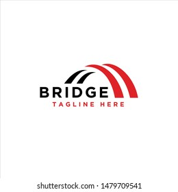 bridge simple modern logo vector