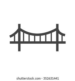 Bridge, suspension, rope icon vector image.Can also be used for building and landmarks . Suitable for mobile apps, web apps and print media.