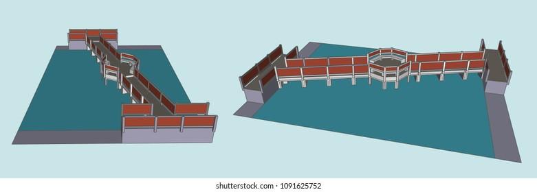 Bridge Vector & Illustration