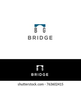 Bridge vector logo design