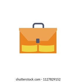 briefcase colored icon. Element of school icon for mobile concept and web apps. Detailed briefcase colored icon can be used for web and mobile. Simple icon