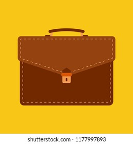 briefcase  flat icon. You can be used briefcase  icon for several purposes like: websites, UI, UX, print templates, promotional materials, info-graphics, web and mobile phone apps.