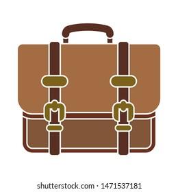 briefcase icon. flat illustration of briefcase - vector icon. briefcase sign symbol