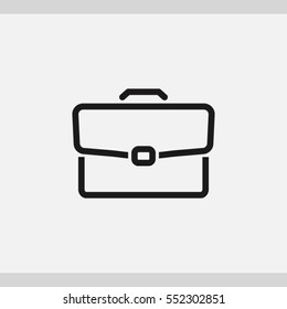 Briefcase icon. One of set web icons