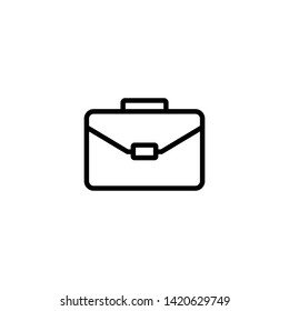 Briefcase icon, Briefcase symbol vector