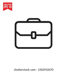 Briefcase icon template black color editable. Bag symbol vector sign isolated on white background. Simple logo vector illustration for graphic and web design.