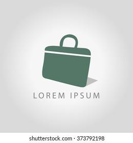 Briefcase icon, vector illustration business logo