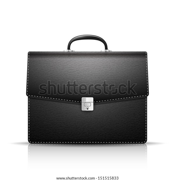 Briefcase with leather texture