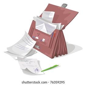 Briefcase, vector