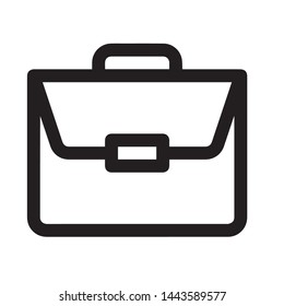 Briefcase vector icon modern and simple flat symbol for web site