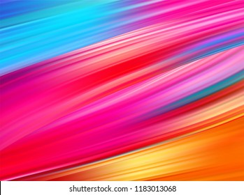 Bright abstract background with colorful swirl flow. Vector illustration EPS10