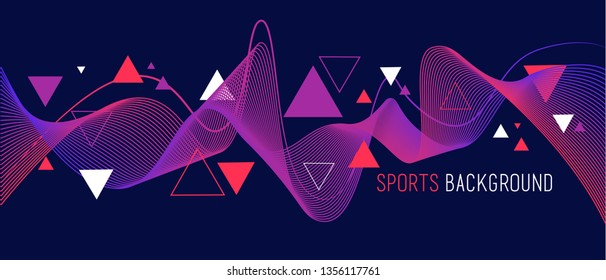 Bright abstract background with waves, vector illustration