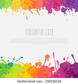 bright abstract banner with color splashes