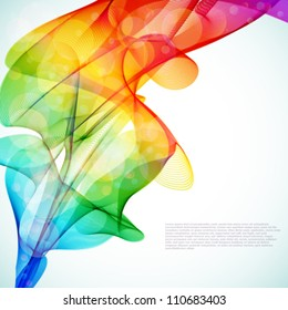 Bright abstract colorful vector background.
