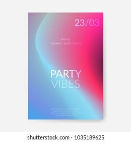 Bright abstract modern halftone color gradient poster design template. Fluid design liquid shape background. Vector illustration