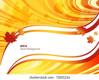 bright abstract vector background with autumn leaves. Eps10