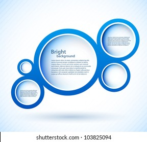 Bright background with blue circles and lights