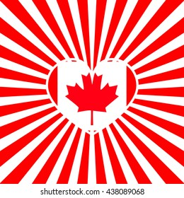 bright background for Canada Day. Vector illustration. Template for greeting card backgrounds. For design, design, advertising banners
