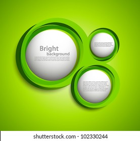 Bright background with circles in green color.