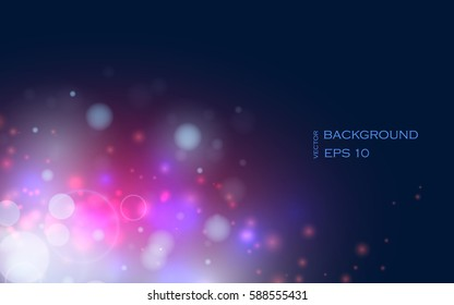 Bright background with the lights. Flashes of light vector