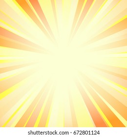 A bright background with bright rays of different colors from the center of the picture