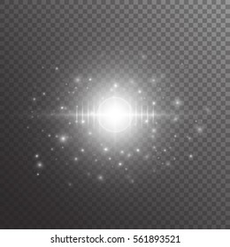 Bright background with twinkle lights. Sequins vector on a transparent backdrop.