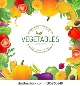 Bright background with vegetables