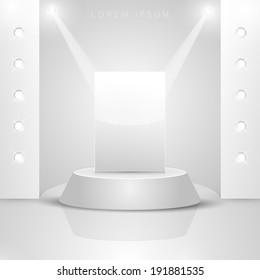 Bright bathroom with pedestal.