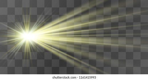 Bright beautiful star. Light from the rays.
