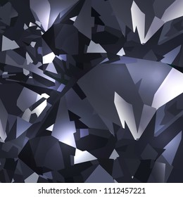 Bright black abstract background made of black crystals. Vector design.