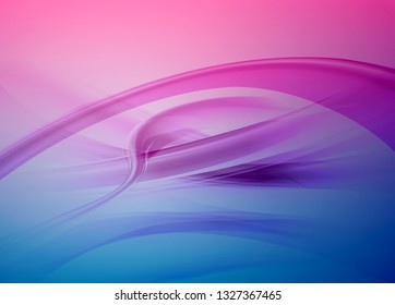 Bright blue and green vector modern futuristic background with abstract waves and gradient